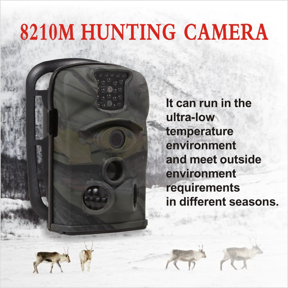 MMS Surveillance Wifi Security Video Thermal Night Vision 8210m Hunting Trail Camera