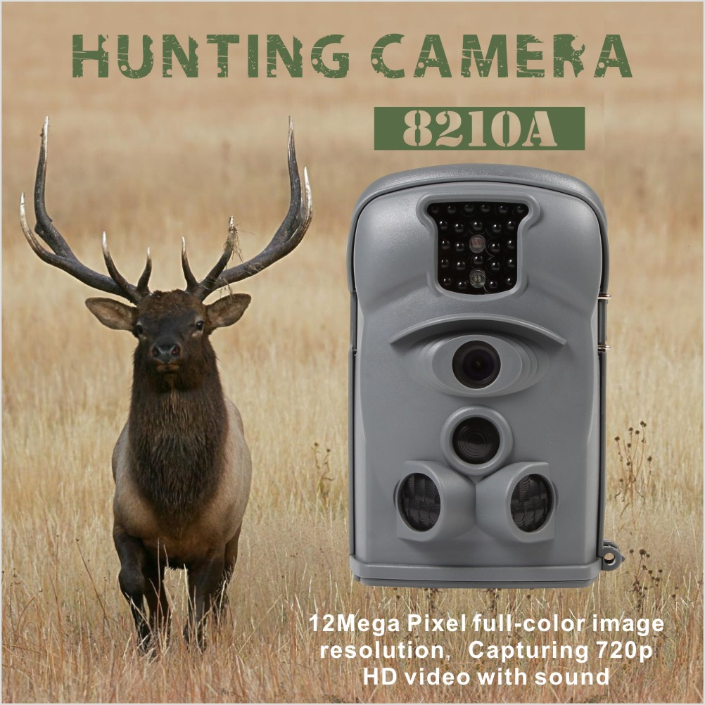Night Vision Infrared Goods From China for Hunting Mini 8210a Gray Spy Hunting Game Camera