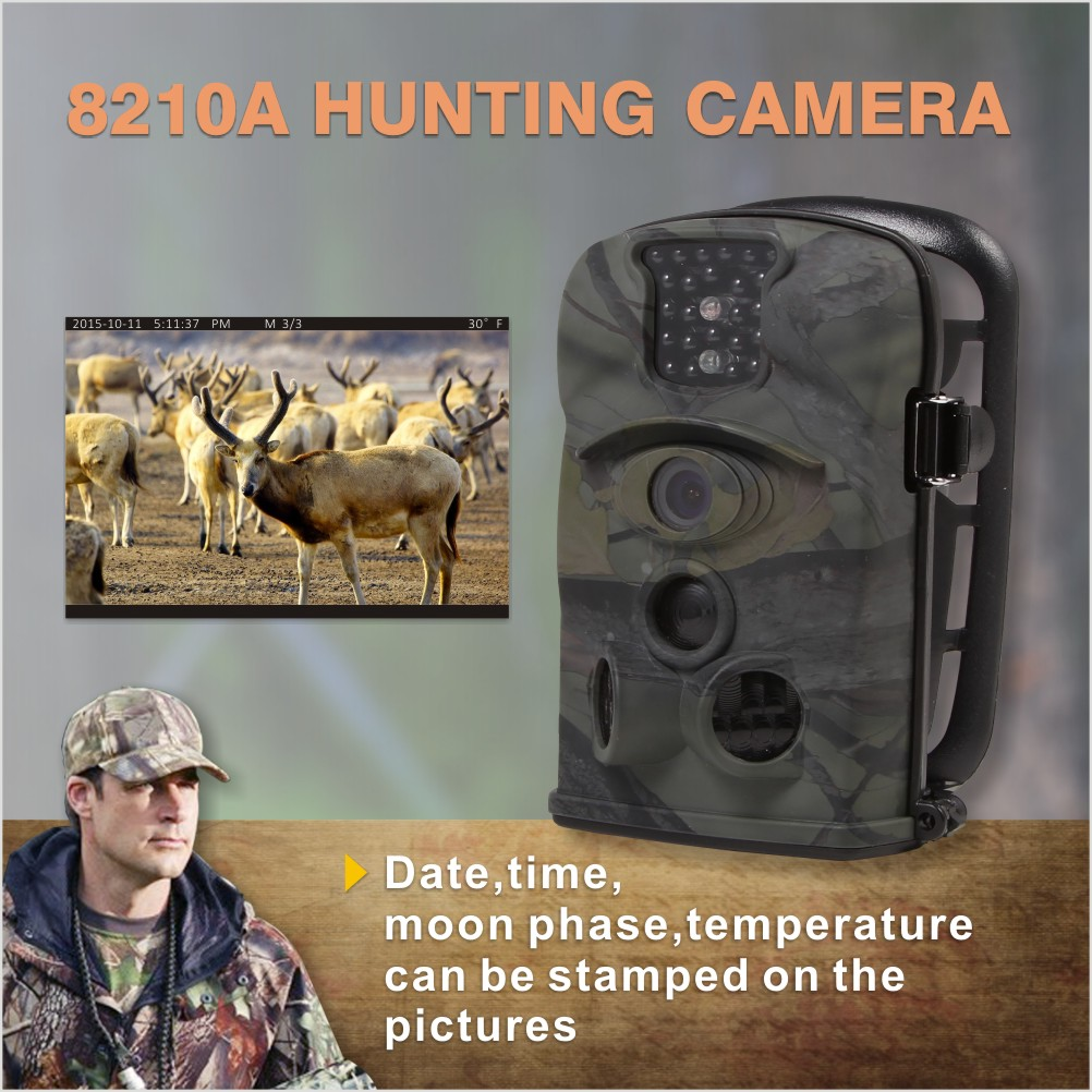 Thermal Imaging Cheap Night Vision CCTV Wireless Waterproof 8210a Camo Hunting Wildlife Camera